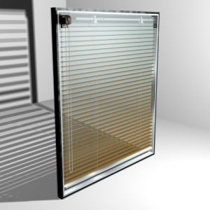 Міжрамні жалюзі з відстанню між стеклами від 2,8 см