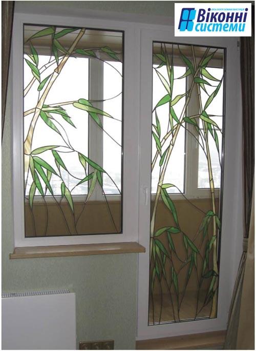 Вітражна плівка для пластикових вікон