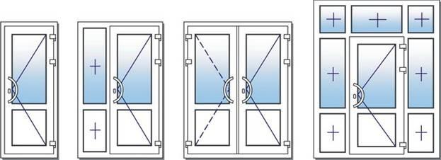 Обрати конфігурацію пластикових вхідних дверей
